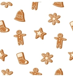 Christmas cookie seamless pattern icon vector image