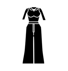 Contour casual blouse and pants wear style vector