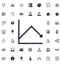 Decrease chart icon vector