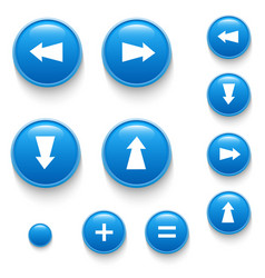 Directional buttons blue vector