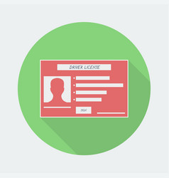 driver license icon with shadow vector image
