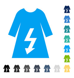 Electric woman dress icon vector