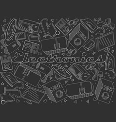 electronics line art design vector image