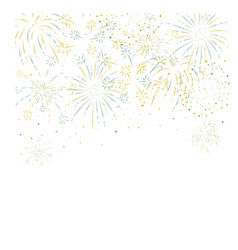 fireworks festive and event background vector image