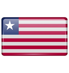Flags Liberia in the form of a magnet on vector