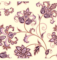 Floral seamless pattern flower background floral vector