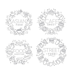Food monograms vector image