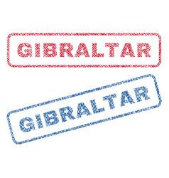 Gibraltar textile stamps vector