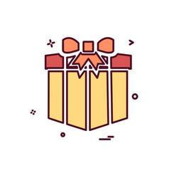 giftbox icon design vector image