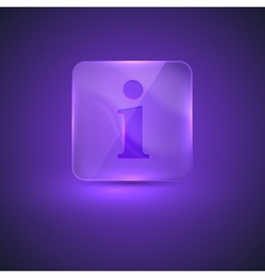 glass icon with information sign vector image