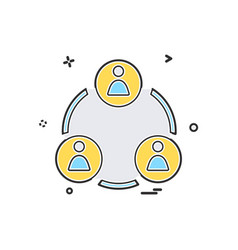 group avatar icon design vector image