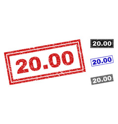grunge 2000 scratched rectangle watermarks vector image