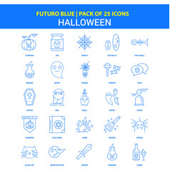 Halloween icons - futuro blue 25 icon pack vector