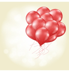 heart balloons flying vector image