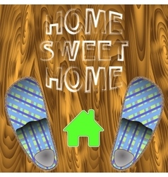 Home Slippers Poster vector