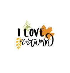 i love autumn badge isolated design label season vector image