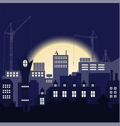 Industrial european vintage styled city under vector