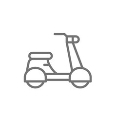 italian scooter traditional city transport line vector image