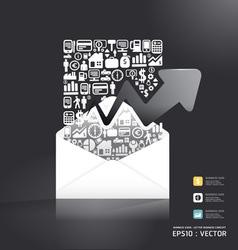 letter paper shape concept vector image