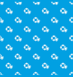 lifeguard protection pattern seamless blue vector image