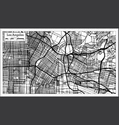 Los angeles california usa city map in retro vector
