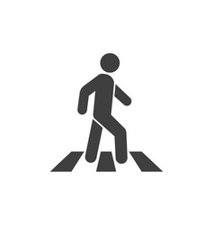 man crosswalk icon vector image