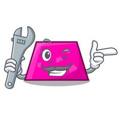Mechanic trapezoid mascot cartoon style vector