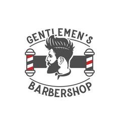 men barber shop vintage logo design inspiration vector image
