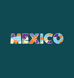 Mexico concept word art vector