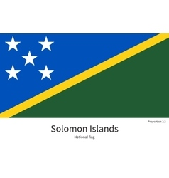 National flag of Solomon Islands with correct vector