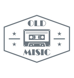 Old music logo simple style vector