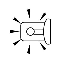 outline warning alarm alert security vector image