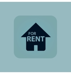 Pale blue FOR RENT icon vector