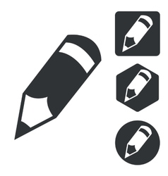 Pencil icon set monochrome vector image