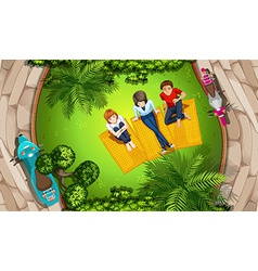 People and park vector image