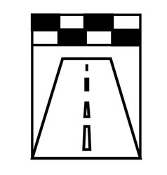 racing road icon vector image