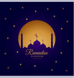 Ramadan kareem elegant greeting card design vector