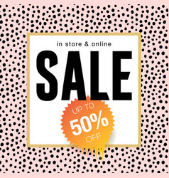 sale banner template design online shopping vector image