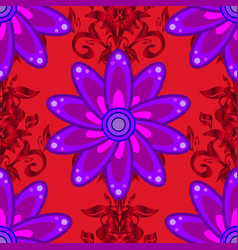seamless flower pattern can be used for wallpaper vector image