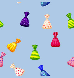 seamless pattern of colored chocolates in a pack vector image