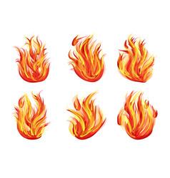 Set flames vector