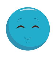 Smiling chat emoticon vector