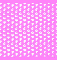 Square seamless baby pattern of white animal paw vector