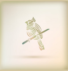 Stylish greeting card with bird vector