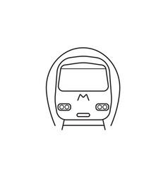 Subway metro icon public transport vector