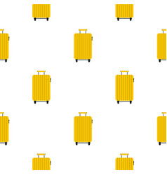Suitcase on wheels pattern seamless vector