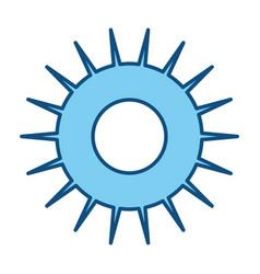 Sun symbol isolated vector