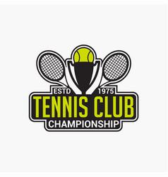 Tennis club badge logo-9 vector