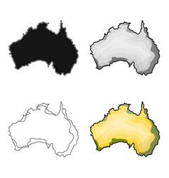 Territory of australia icon in cartoon style vector