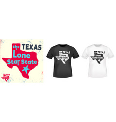 texas - the lone star state t shirt print vector image
